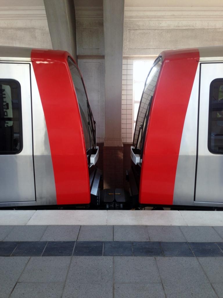 Kupplung zwischen zwei DT5-Einheiten in Volksdorf