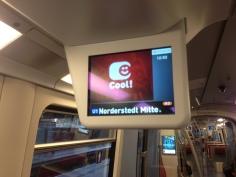 Infoscreen in Norderstedt Mitte