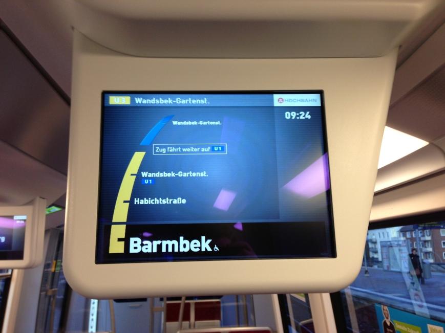 Der DT5 fährt ab Wandsbek-Gartenstadt weiter als U1