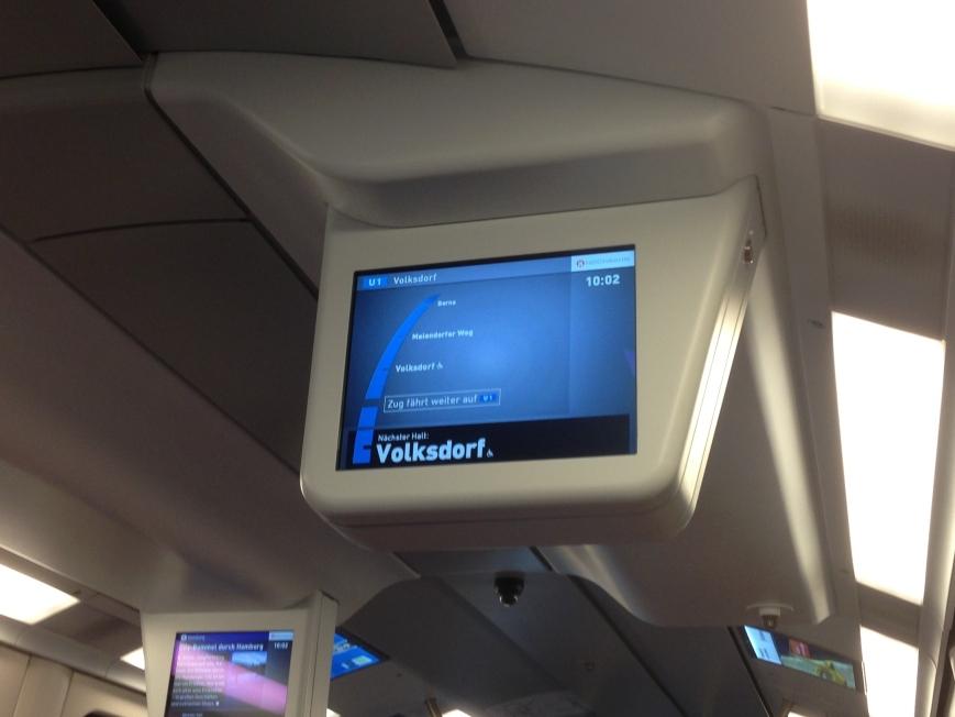 Auf dem Rückweg von Ohlstedt fährt der Zug nur bis Volksdorf, und anschließend auf der U1 weiter!?
