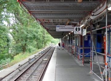 Bahnsteigteil U1 Richtung Walddörfer