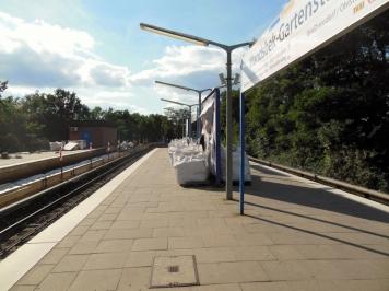 So sah es auch mal auf dem anderen Bahnsteig aus.