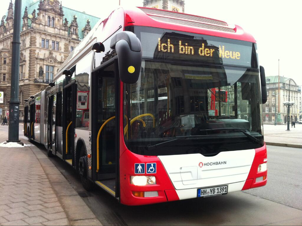 hochbahn testet seit heute gelenkbusse mit 5 t ren dt5 online. Black Bedroom Furniture Sets. Home Design Ideas