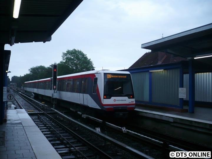 123 in Wandsbek-Gartenstadt (U2 Wandsbek-Gartenstadt) - Archivbild von Juni 2009 (kurz vor dem Linientausch U2/U3).