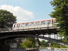 U3-Betriebsstörung am 17.7.2014: Schadhafter Zug auf der Leinpfad-Brücke 5/29