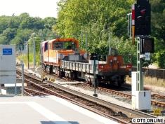 Der Zug steht bereit auf dem Verbindungsgleis