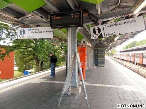 Ebenfalls noch nicht wieder da sind die dynamischen Zugzielanzeigen. Wobei: Das Lumino-Display können sie gerne (zusätzlich) hängen lassen. Dann aber auch die nächsten vier U1-Züge und nicht nur die Züge der nächsten 10 Minuten...
