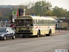 Als Gast beim VHT war ein Bus der Stadtwerke Lübeck dabei. Hier steht er vor seinem ersten Einsatz des Tages am Bahnhof Berliner Tor