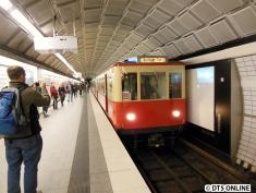 Allerdings endet meine Fahrt bereits am Hauptbahnhof. Die T-Wagen fuhren hier mal auf der U21.