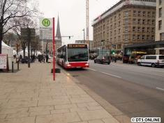 Bisher fahren aber noch normale Busse auf der künftigen Innovationslinie.