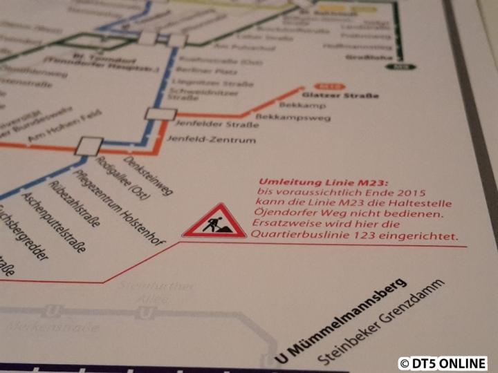 Im MetroBus-Plan auf den letzten Innenseiten werden nun auch die Dauerbaustellen mittels Hinweistext berücksichtigt.