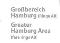 """Die Beschriftung """"Großbereich Hamburg"""" ist auf der linken Seite nun um den Zusatz """"Ringe AB - Greater Hamburg Area (fare rings AB)"""" ergänzt worden. Der deutsche Teil wurde nun auch auf die Wedeler Seite geschrieben."""