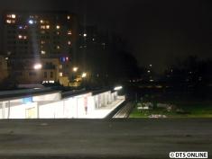Legienstraße bei Dunkelheit