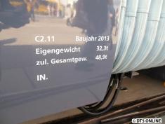 Ein paar Daten zum C2.11: Bj. 2013, noch nicht in Betrieb.