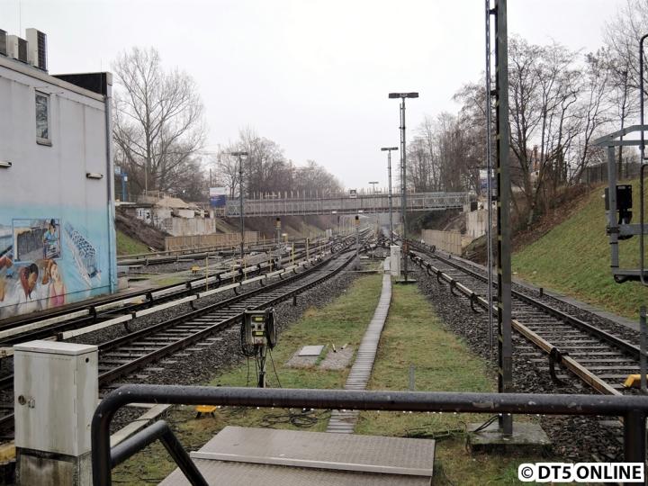 Dementsprechend ist auch die neue Brücke direkt vom Bahnhof aus zu sehen