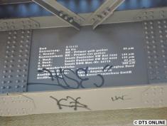 Das Brückenschild verrät: Das Bauwerk A (111) - ausgeführt von April bis September 2005