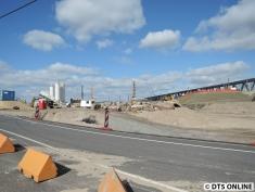 Hier lagern noch Baustoffe für die U4-Strecke