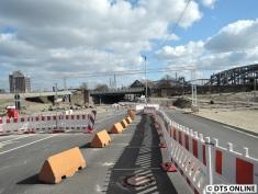 Die Zweibrückenstraße ist schon gesperrt