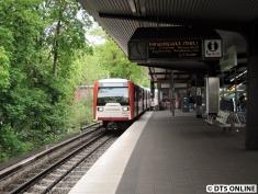 Vier der acht Umläufe Ohlsdorf - Wandsbek Markt wurden mindestens von DT3 gefahren.