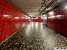 Die westliche Vorhalle ist vorwiegend rot gefliest.