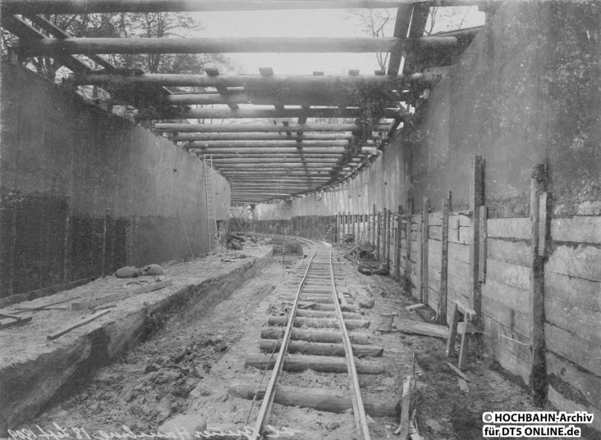 Tunnelstrecke Große Allee - Besenbinderhof - Abzweig nach Rothenburgsort in Bau.