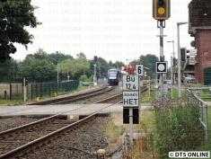 Wenige Minuten später steht er im Bahnhof Bönningstedt