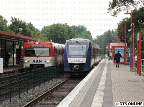 Burgwedel, Zugbegegnung mit einem VTE