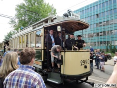 In veränderter Form bis 1969 auf allen Linien im Einsatz. Beiwagen 808 Bj. 1908, in veränderter Form bis 1969 auf allen Linien im Einsatz.