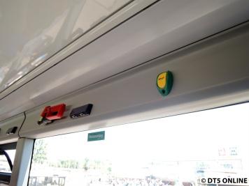 Ausgestattet mit Nothammern, USB-Ladeports (in Zweierpacks) und Stop-Knöpfen