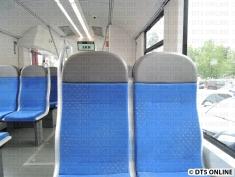 Die Sitze sind angenehm weich, leicht gepolstert und haben Kopflehnen.
