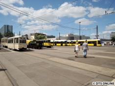 Die Straßenbahn-Ausstellung fast menschenleer