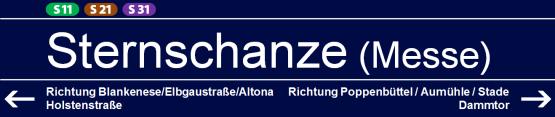 Sternschanze (S11/S21/S31)