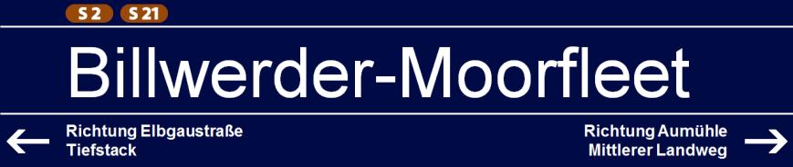 Billwerder-Moorfleet (S2/S21)