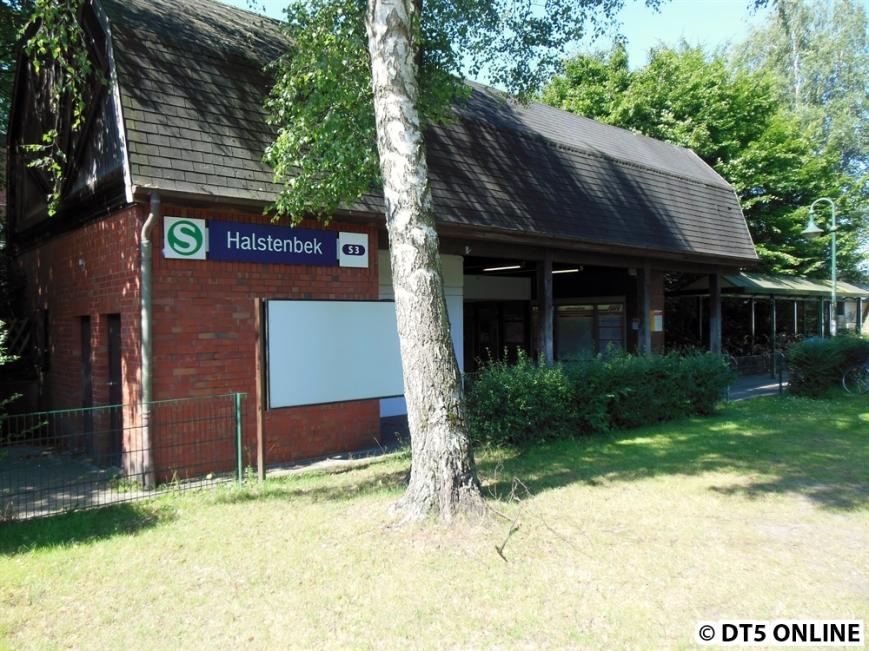 Halstenbek (S3), Zugang Nord