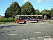 Tagsdarauf fuhr der ex-Hochbahner 1983 (Modell S80) wieder in Hamburg - seine Premierenfahrt endete hier in Vedddel