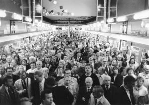 Die Haltestelle Mümmelmannsberg bei der Eröffnung. Foto: (C) HOCHBAHN
