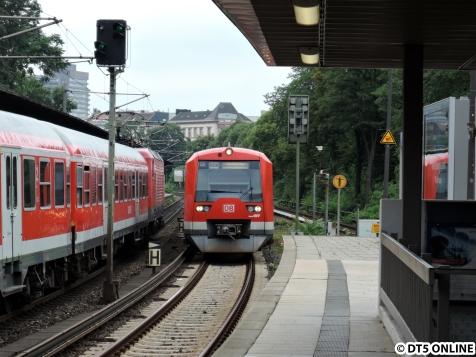 An zwei Wochenenden wurde die S31 aufgrund von Bauarbeiten am Kreuzungsbauwerk Berliner Tor nach Hammerbrook umgeleitet