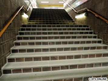 Was beim letzten Besuch noch nicht gezeigt wurde: Auch diese Treppe wurde neu gemacht.