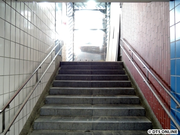 Die Treppe ist nicht bearbeitet worden.