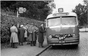 Eröffnung der Schnellbuslinie 36, 30.10.1955, Foto: HOCHBAHN