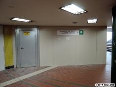Der Ausgang Colonnaden ist geschlossen. Hier entsteht der Aufzug zur Straßenebene