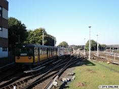 Die T-Wagen fuhren bei der Einsetzfahrt über Kellinghusenstraße nach Schlump