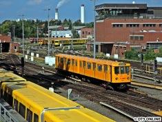 Ein einzelner A3-Zug am Bw Grunewald