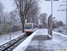 109/129 in Alsterdorf. Am Freitag war im Bahnhofsbereich ein Baum umgekippt und hat dabei die Lärmschutzwand in Mitleidenschaft gezogen.