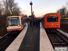 Das letzte Treffen mit einem DT4 in Ohlsdorf (bei den Verstärkern)