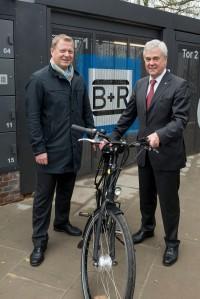 Eršffnung der ersten Bike +Ride Anlage in Hamburg