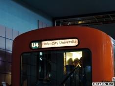 Seit 2009 auf den Bändern: U4 HafenCity Universität
