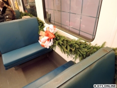 In einem Wagen hing auch innen Deko. Hätte beinahe auch eine Weihnachtsfahrt sein könnnen