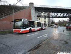 Ein 2014er-Citaro-Gelenkbus auf dem S1-Ersatzverkehr