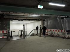 Abgang zur S-Bahn: Hell ist er ja
